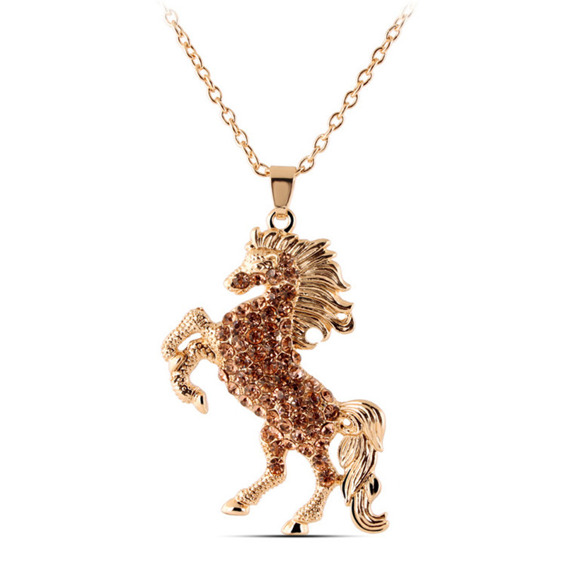 Jeweled horse pendant necklace fairytale press home jewelry necklaces jeweled horse pendant necklace mozeypictures Gallery